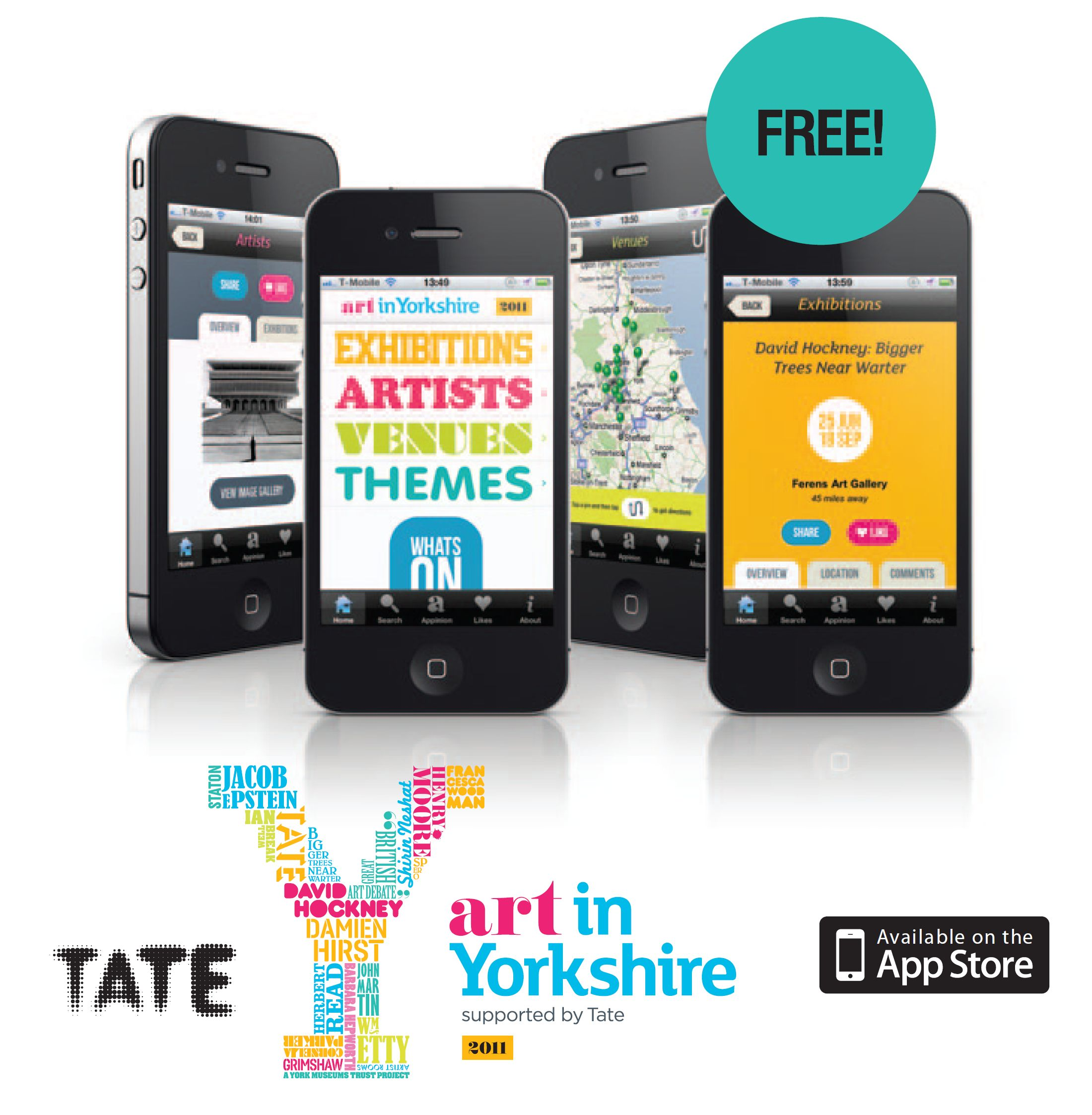 Art in Yorkshire iPhone App wins award
