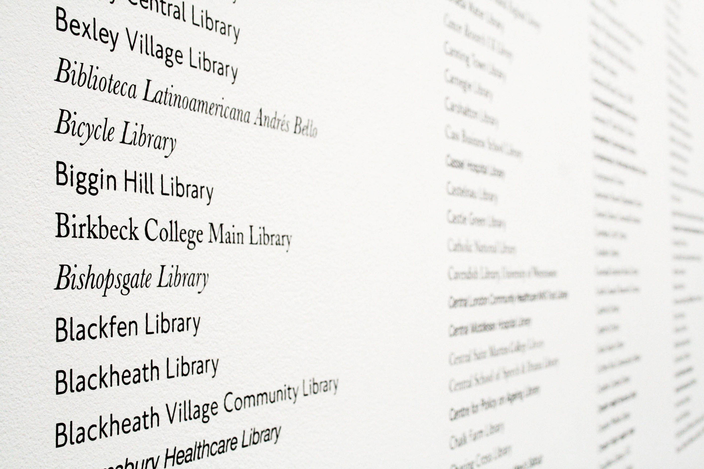 Ruth Beale All the Libraries in London, 2011