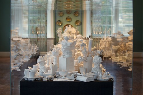 Kathy Dalwood, Secret Society - a Ballroom Banquet installation at the Holburne Museum, Bath, 2014