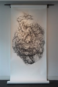 Zoe Maslen, The Absent's Presence, Hair Drawing, 2014
