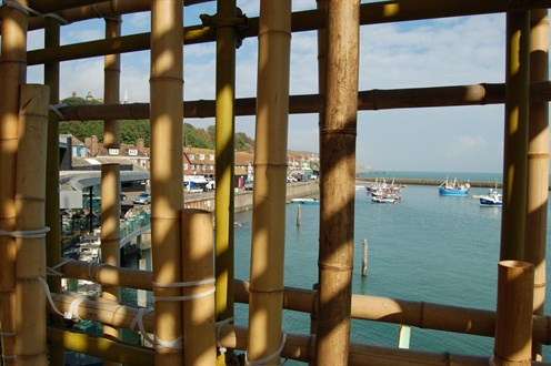 View From Gabriel Lesters The Electrified Line Folkestone Triennial 2014