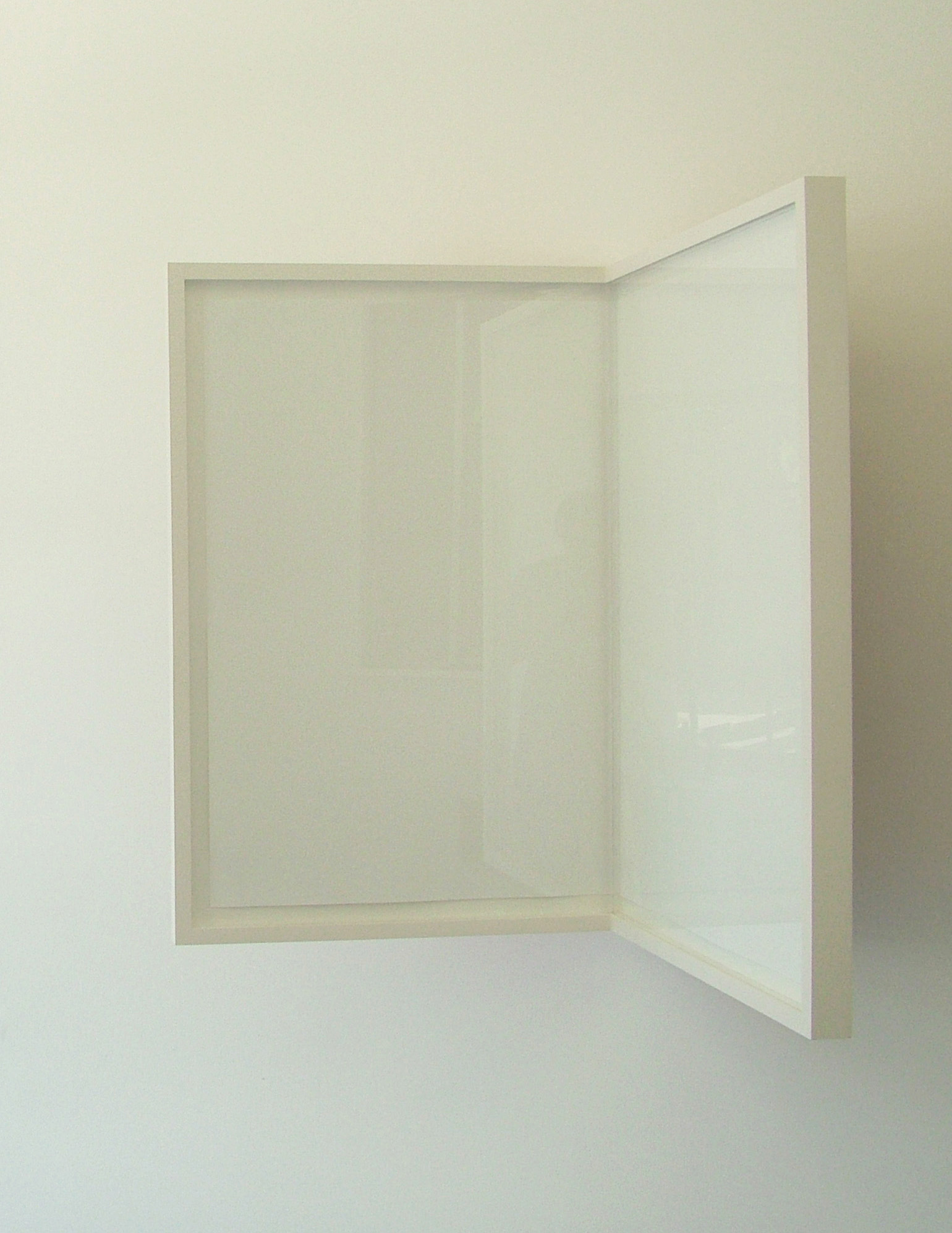 Sheet of Paper / Folded / Framed, 2008